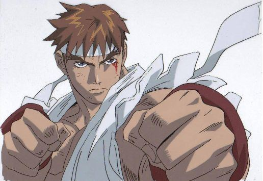 Street Fighter Alpha: The Animation movie scenes It s a SF Alpha The Animated Movie scene when he is fighting against Ken possessed by Vega dictator