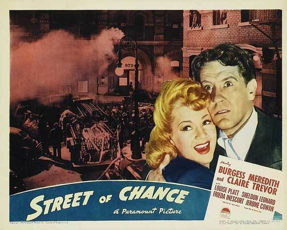 Street of Chance (1942 film) For the Love of Film Noir Preservation Blogathon Street of