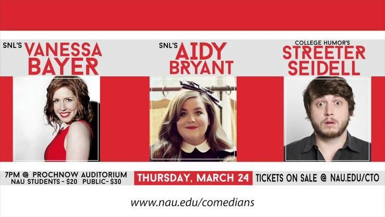 Streeter Seidell SNL Comedy Show Featuring Vanessa Bayer Aidy Bryant Streeter