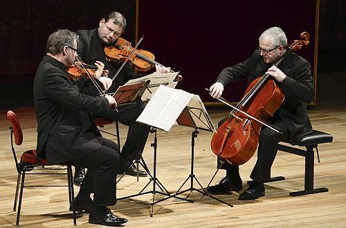 String trio Fine playing of Lennox Berkeley by Dresden Trio Seen and Heard