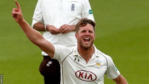 Stuart Meaker Surrey bowler signs contract until 2018 BBC Sport