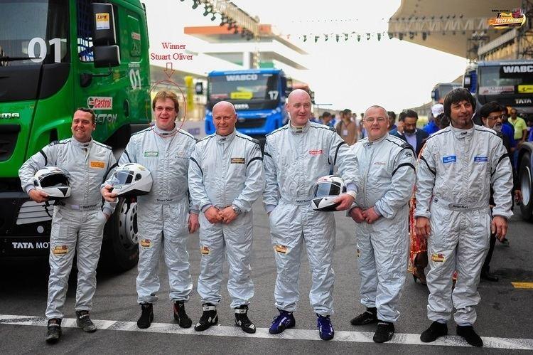 Stuart Oliver (racing driver) Stuart Oliver wins Tata Motors T1 Prima Truck Racing Championship 2014