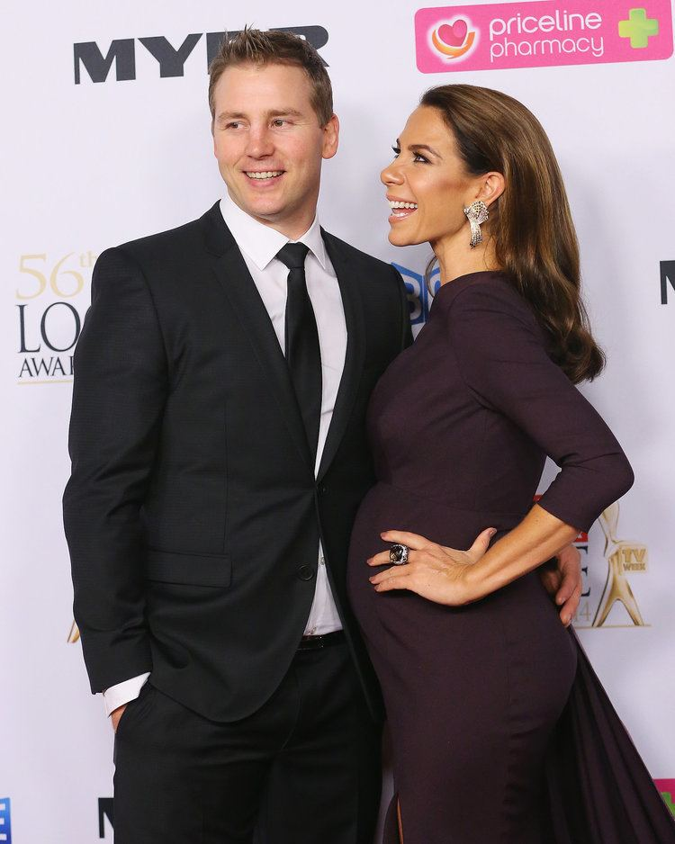 Stuart Webb A pregnant Kate Ritchie looked radiant with her husband