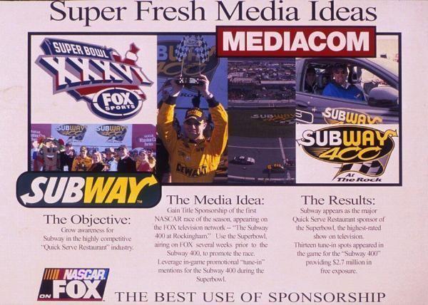 Subway 400 Subway quotSUBWAY 400 AT ROCKINGHAMquot Print Ad