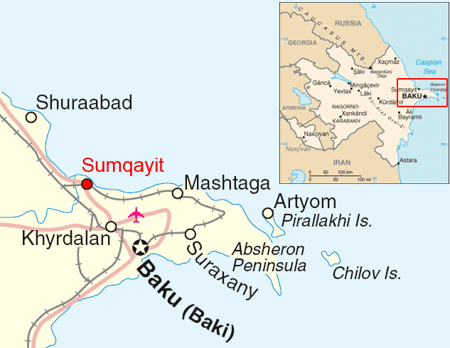 Sumqayit in the past, History of Sumqayit