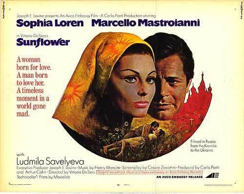 Sunflower (1970 film) Sunflower movie posters at movie poster warehouse moviepostercom