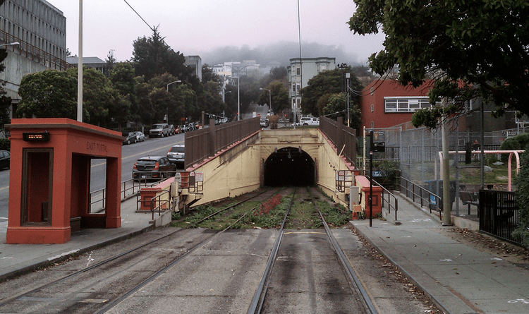 Sunset Tunnel East Portal of the Sunset Tunnel San Francisco by Weissboard on