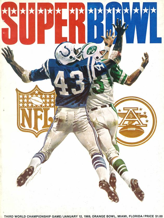 Super Bowl III Super Bowl III game program Pro Football Hall of Fame Official Site