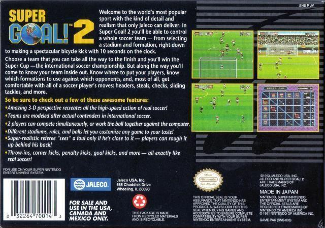 Super Goal! 2 Super Goal 2 Box Shot for Super Nintendo GameFAQs