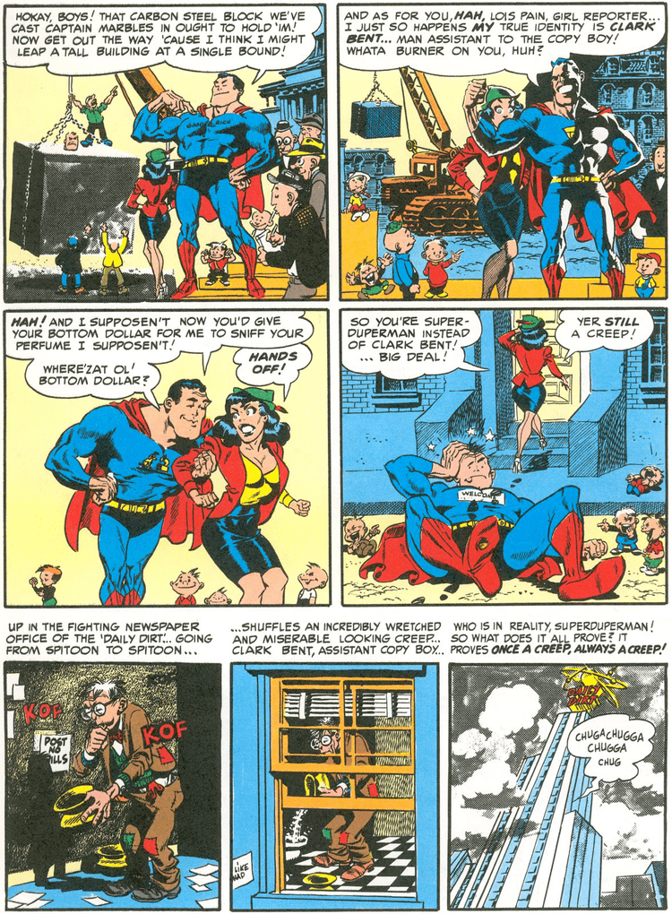 Superduperman THE ARCHETYPAL ARCHIVE MYTHCOMICS quotSUPERDUPERMANquot MAD 4 1953