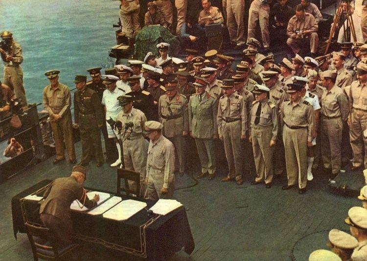 Surrender of Japan Japanese Surrender in HD Color 1945 YouTube
