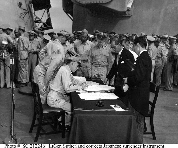 Surrender of Japan SURRENDER OF JAPAN 2 September 1945 Japanese Delegation Leaves USS