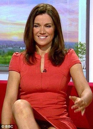 Susanna Reid BBC mocks Susanna Reid39s pantflashing sofa moment in W1A