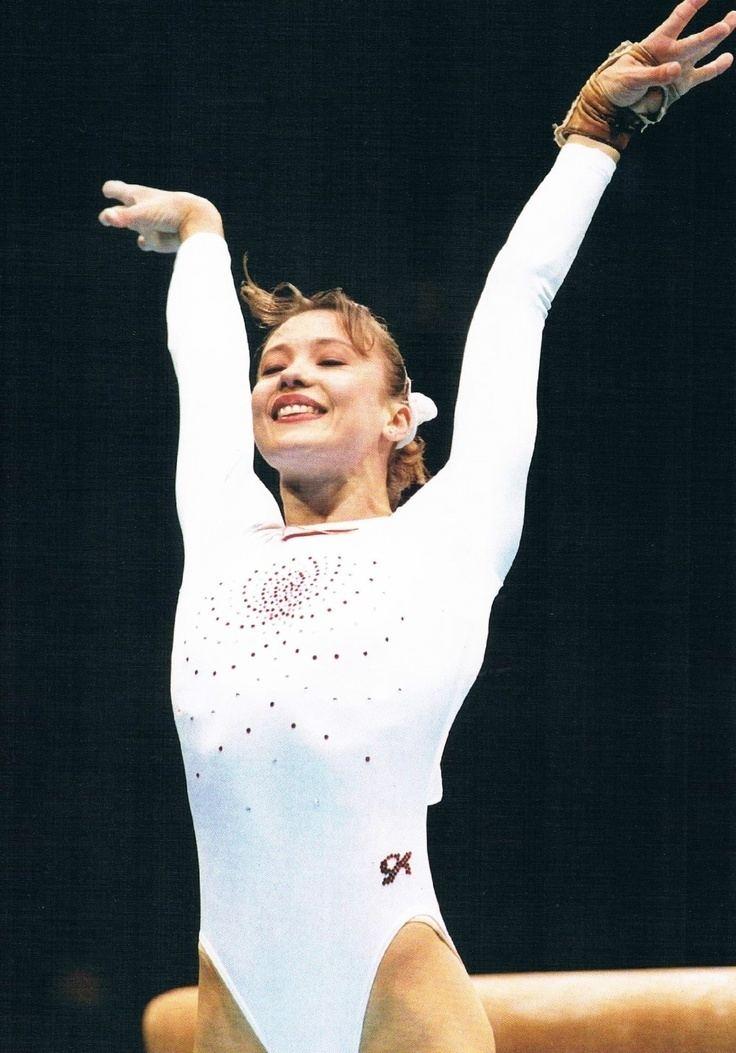 Svetlana Boginskaya Svetlana Boginskaya on vault 1996 JO Gymnasts