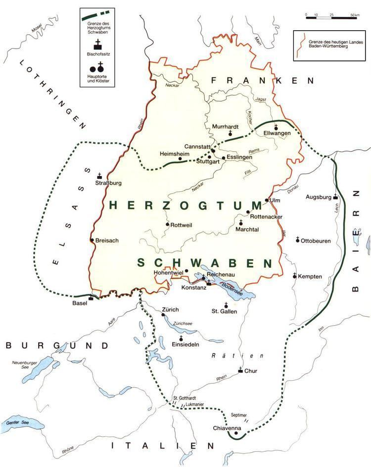 Swabia History of BW The Duchy of Swabia
