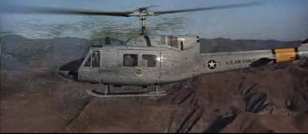 Swarmed (film) movie scenes Between one of Dr Crane and General Slater s early shouting matches a military helicopter pilot radios the base to say he s made contact with an ominous