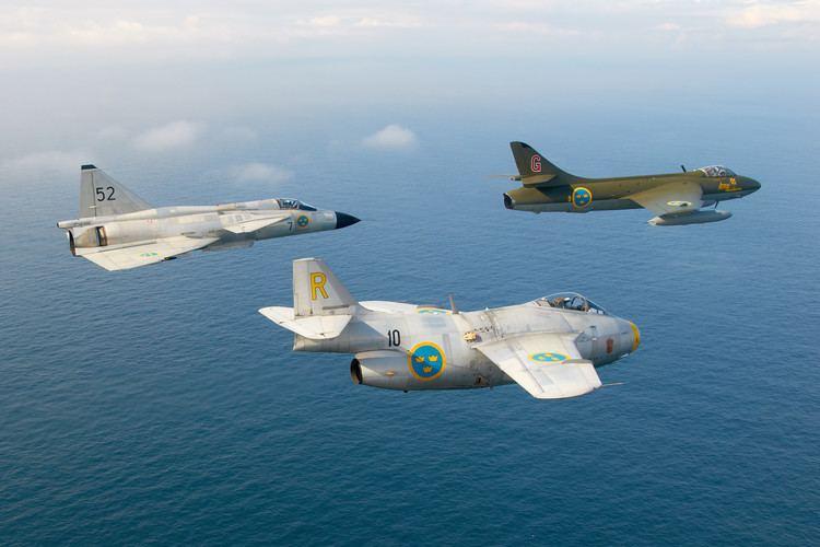Swedish Air Force Swedish Air Force Historic Flight Wows Jersey Gripen