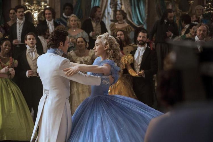 Swing Shift Cinderella movie scenes Lily James and Richard Madden in Kenneth Branagh s Cinderella 2015