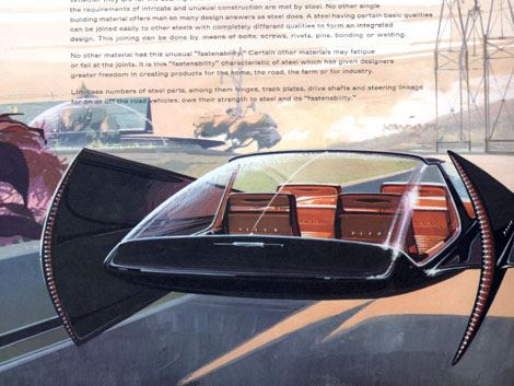 Syd Mead Syd Mead concept design for US Steel Mead Space age and Steel