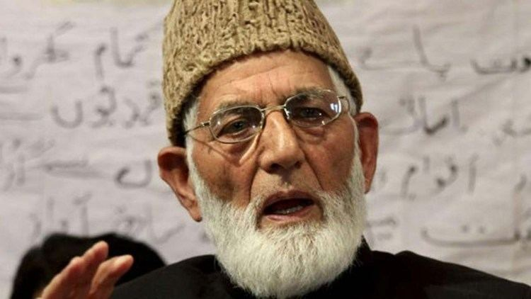 Syed Ali Shah Geelani Hurriyat Conference leader Syed Ali Shah Geelani house arrested