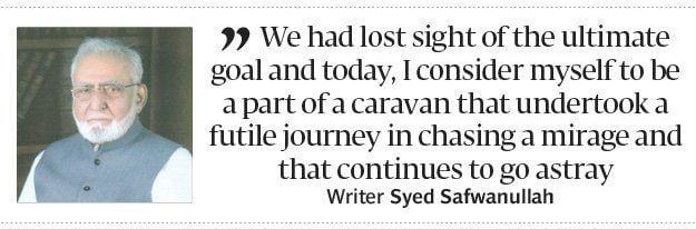 Syed Safwanullah A neverending journey Author Syed Safwanullah writes a memoir of