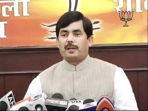 Syed Shahnawaz Hussain BJP Press Petrol amp Oil Price Hike Sh Syed Shahnawaz