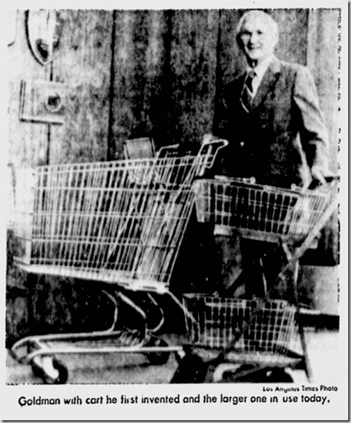 Sylvan Goldman FIRST SHOPPING CART ON THIS DAY IN 1937 PDX RETRO