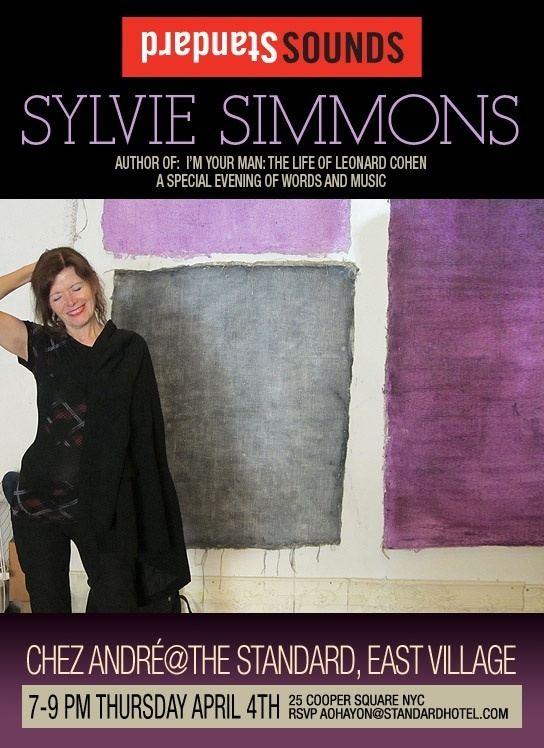 Sylvie Simmons Tour Sylvie Simmons