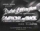 Symphony in Black movie poster