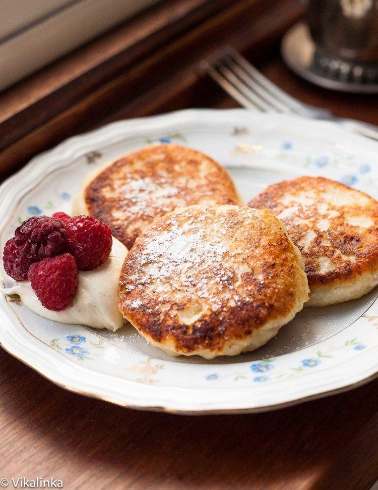 Syrniki Russian sweet cheese fritters quotSyrnikiquot Vikalinka
