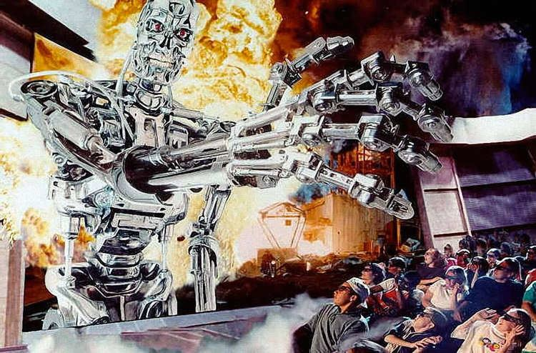 T2 3-D: Battle Across Time movie scenes The artwork article of the week is for once not about WDI artwork but about the very popular Universal Studios Terminator 2 3D Battle Across Time
