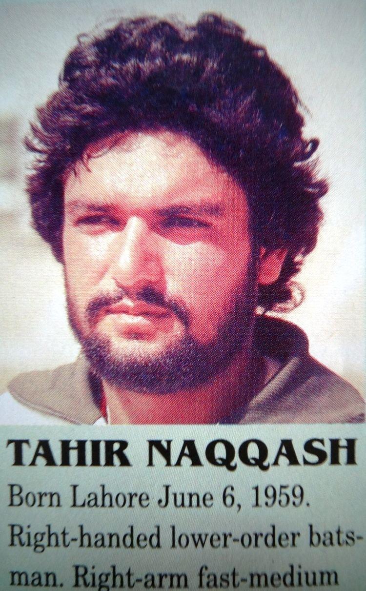 Tahir Naqqash a medium fast bowler born on June 6 1959 Cricket