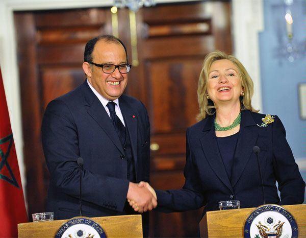 Taieb Fassi Fihri Photo Secretary Clinton With Moroccan Foreign Minister