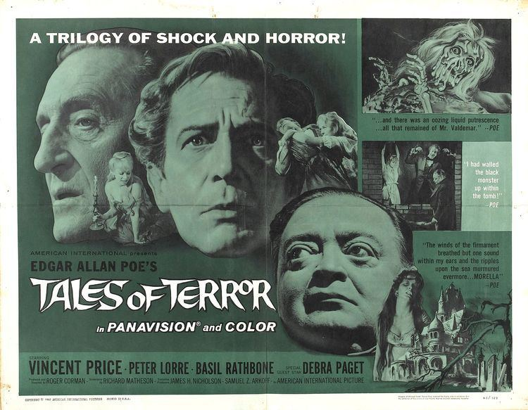 Tales of Terror Poster for Tales of Terror 1962 USA Wrong Side of the Art