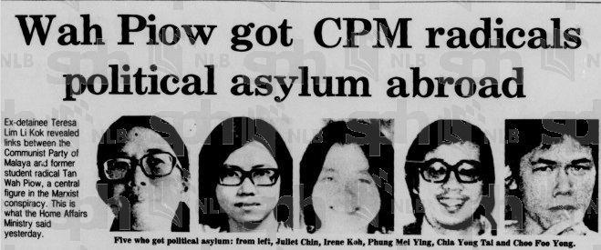 Tan Wah Piow Unravelling 1987 Tan Wah Piow in the UK Exiled