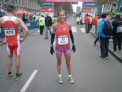 Tanith Maxwell Tanith ABN rotterdam city marathon 2012 Olympics