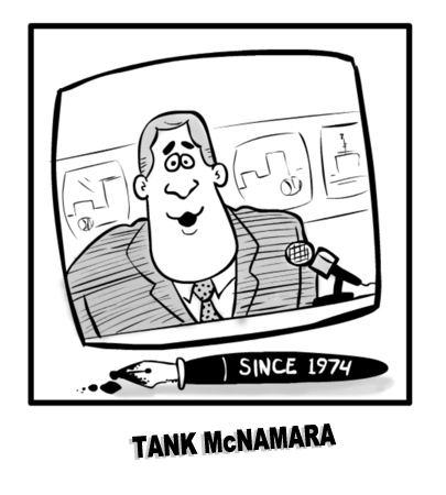 Tank McNamara Cartoon Sportscaster Tank McNamara and the quotNorts Spewsquot Sports