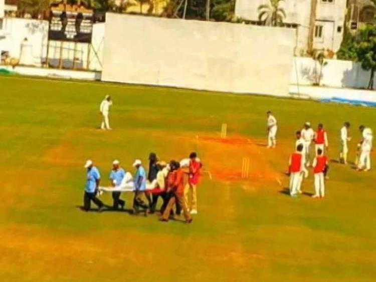 Tanmay Agarwal Ranji Trophy Hyderabad Player Tanmay Agarwal Hit on Head