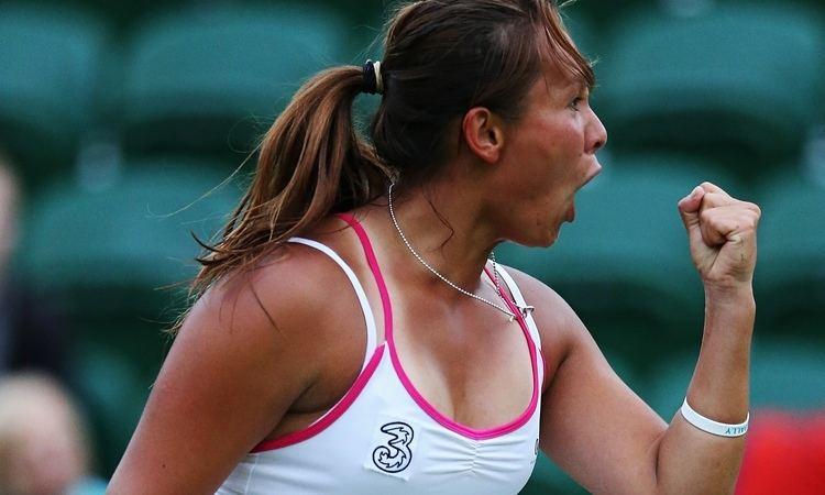 Tara Moore Wimbledon 2014 Britain39s Tara Moore hopes for more fist