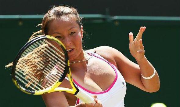 Tara Moore Tara Moore goes down bravely after pushing Vera Zvonareva