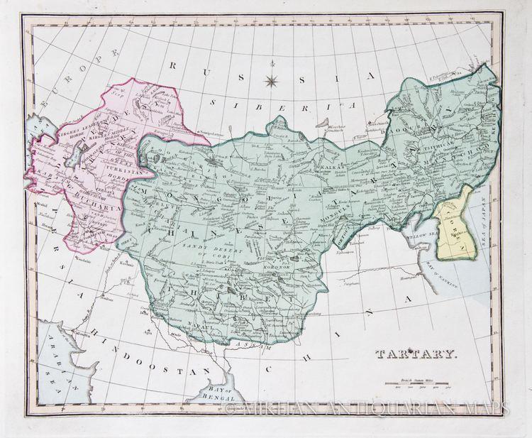 Tartary Map of the Tartary 1825