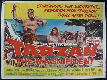 Tarzan the Magnificent ORIGINAL TARZAN THE MAGNIFICENT QUAD POSTER