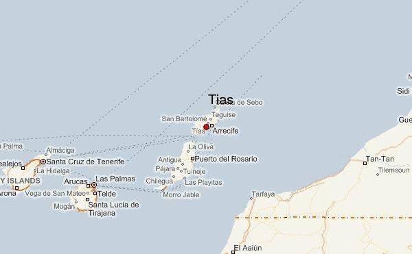 Tías, Las Palmas w0fastmeteocomlocationmapsTias8gif