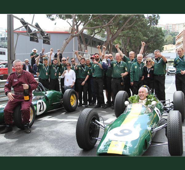 Team Lotus Classic wins for Team Lotus at Monaco Classic Team Lotus