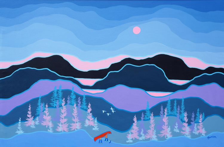 Ted Harrison Ted Harrison 39Forest Portage39 at Mayberry Fine Art