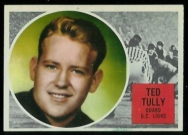 Ted Tully Ted Tully 1960 Topps CFL 10 Vintage Football Card Gallery