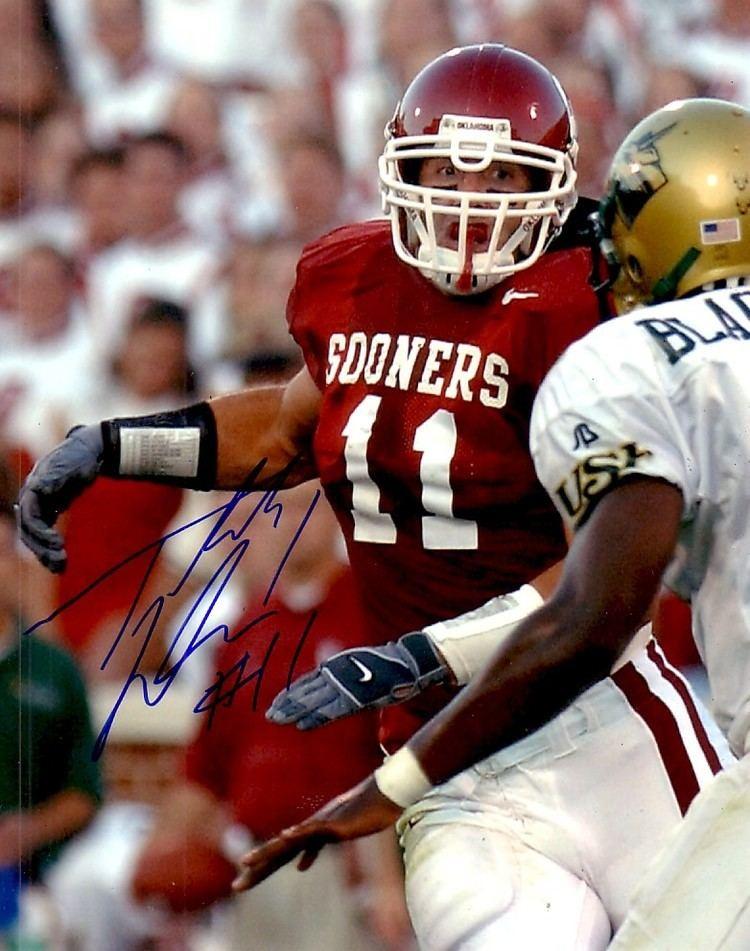 Teddy Lehman Teddy Lehman autographed Oklahoma Sooners 8x10 photo