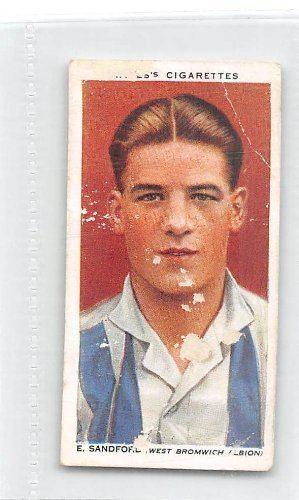 Teddy Sandford Teddy Sandford West Bromwich Albion FC 1935 Wills Cigarettes