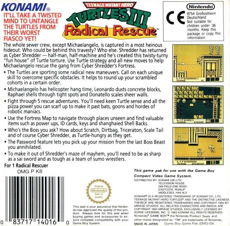 Teenage Mutant Ninja Turtles III: Radical Rescue Teenage Mutant Ninja Turtles III Radical Rescue Game Giant Bomb
