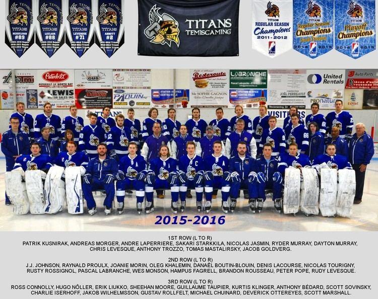 Temiscaming Titans Titans team photo 20152016 Titans de tmiscaming